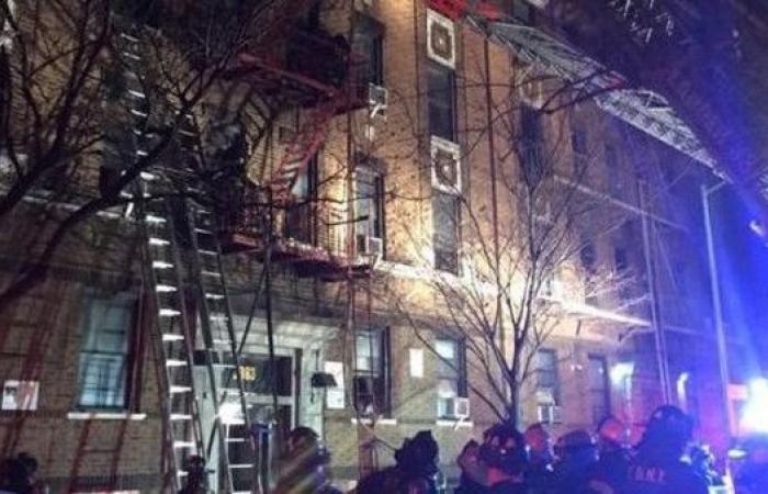 ارتفاع حصيلة ضحايا حريق برونكس في نيويورك إلى 13 قتيلاً