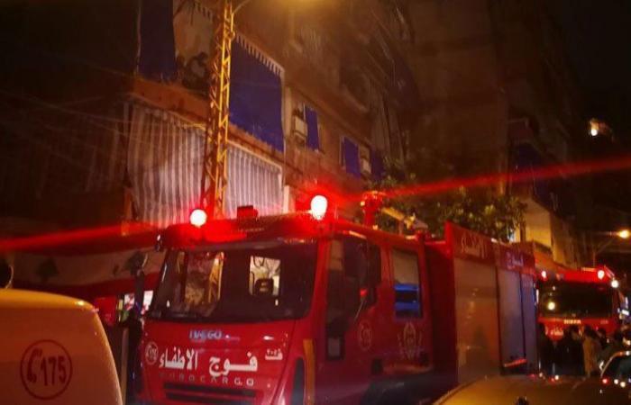 """3 قتلى في حريق الزيدانية.. خير تفقد المبنى واطمأن الى المصابين في """"الاميركية"""""""