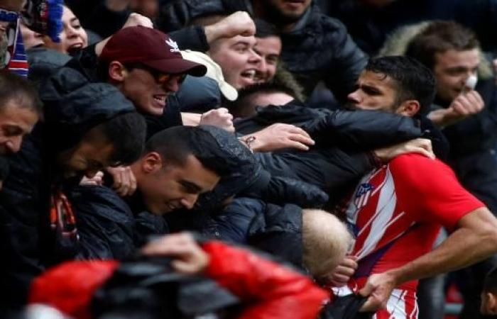 """جنون دييغو كوستا عاد إلى """"الليغا""""...مشاغبة وهدف وبطاقة حمراء"""