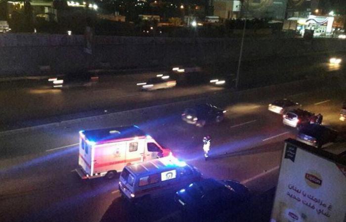 حادث سير على اوتوستراد المطار