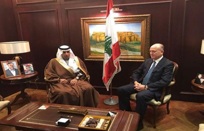 ريفي إستقبل السفير السعودي في لبنان