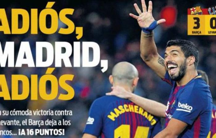 صحف برشلونة تبدأ بالاحتفال: وداعاً ريال مدريد