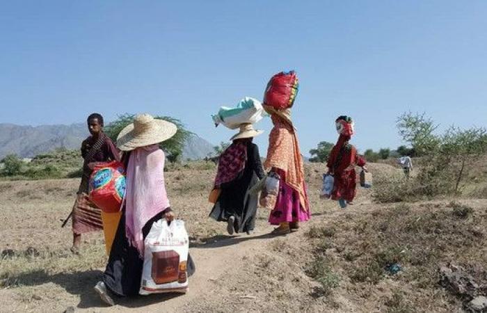 الحوثيون يهجرون 350 أسرة من قرية واحدة في تعز
