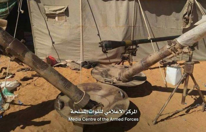 بالصور.. أسلحة استعادها الجيش اليمني من معقل الحوثيين