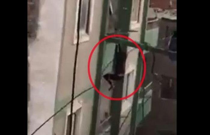 مصر.. فيديو مأساوي لإثيوبية تسقط من الطابق السابع