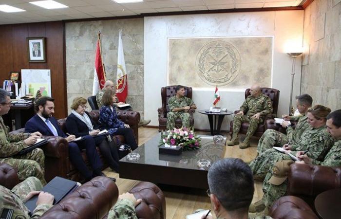قائد الجيش عرض التعاون العسكري مع قائد القوات البحرية في القيادة الوسطى