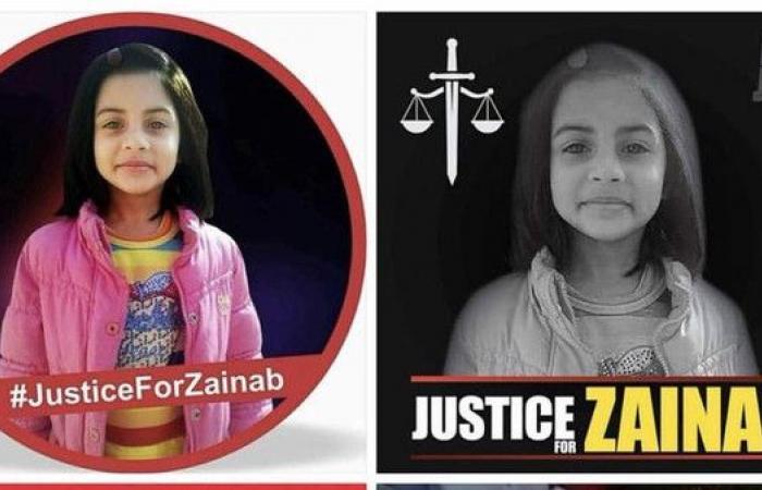 """ضحية بريئة.. مواقع التواصل تطلب """"العدالة من أجل زينب"""""""