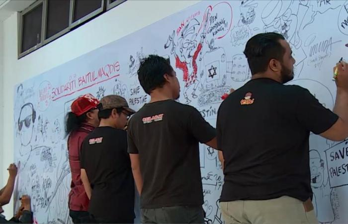 معرض كاريكاتير بماليزيا يتحول لتظاهرة فنية ضد ترمب