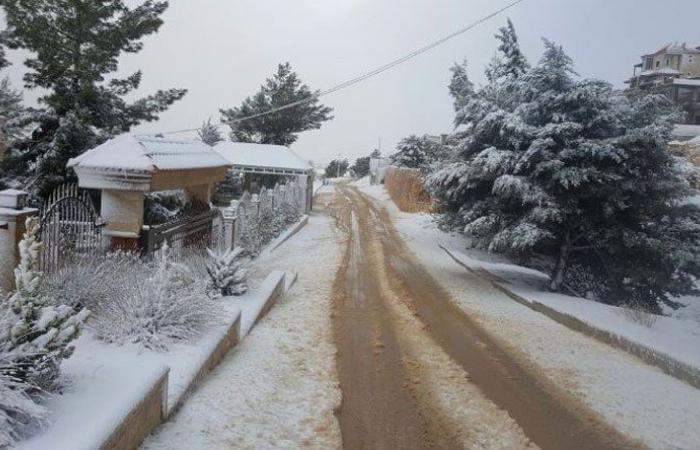 الثلوج غطت بعلبك ومنطقتها والحرارة الى ما دون الصفر