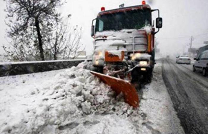 الثلوج ضربت قرى راشيا والبقاع الغربي وقطعت بعض الطرقات