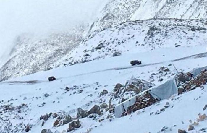 الثلوج عزلت مواقع اليونيفل في تلال شبعا وقرى في العرقوب
