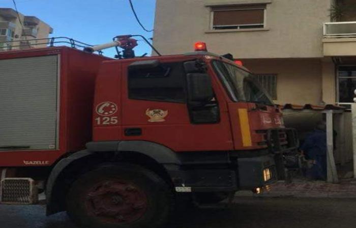 إخماد حريق في مبنى سكني في زوق مكايل والاضرار مادية