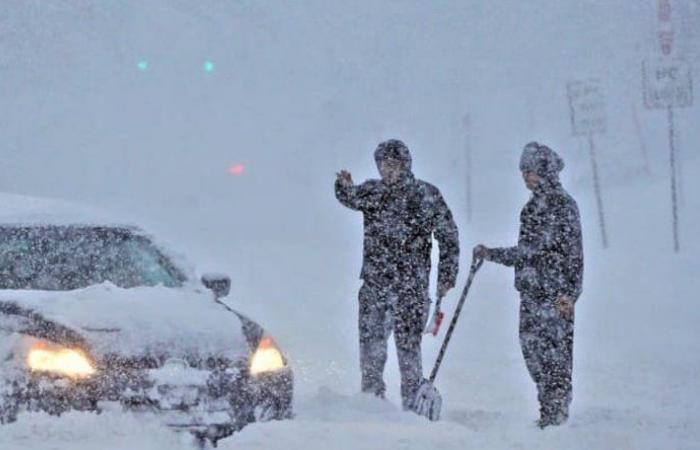 الجيش ينقذ مواطنين حجزهم الثلج داخل سياراتهم في اللقلوق وجرود بعلبك