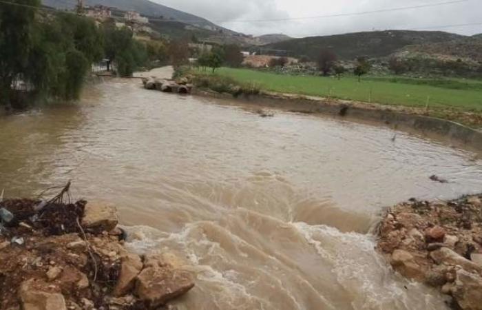 طقس النبطية عاصف.. والأمطار الغزيرة رفعت منسوب الأنهر