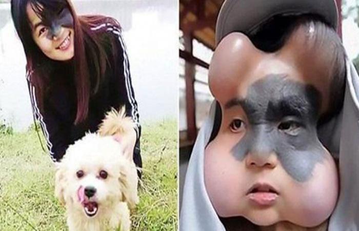 لهذا السبب زرعت 4 بالونات في وجهها!