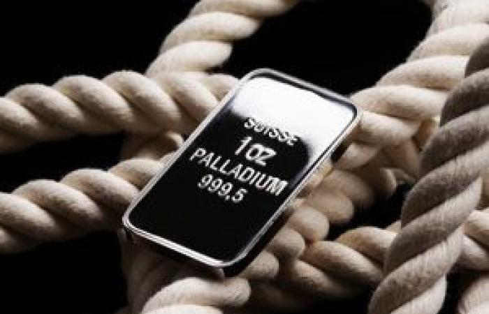 ارتفاع أسعار البلاديوم بنحو الواحد بالمائة أعلى حاجز 1,100$ للأونصة مع تراجع مؤشر الدولار لأدنى مستوياته في 38 شهراً