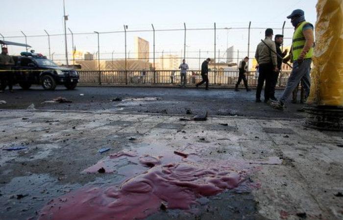 شاهد.. اللحظة الأولى لتفجيري ساحة الطيران وسط بغداد