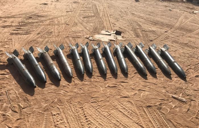 الجيش اليمني والتحالف يضبطون صواريخ حوثية من نوع زلزال1