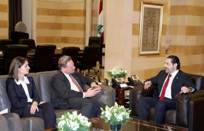 الحريري عرض مع كويهلر ولاسن مشاريع الحكومة لمؤتمر باريس