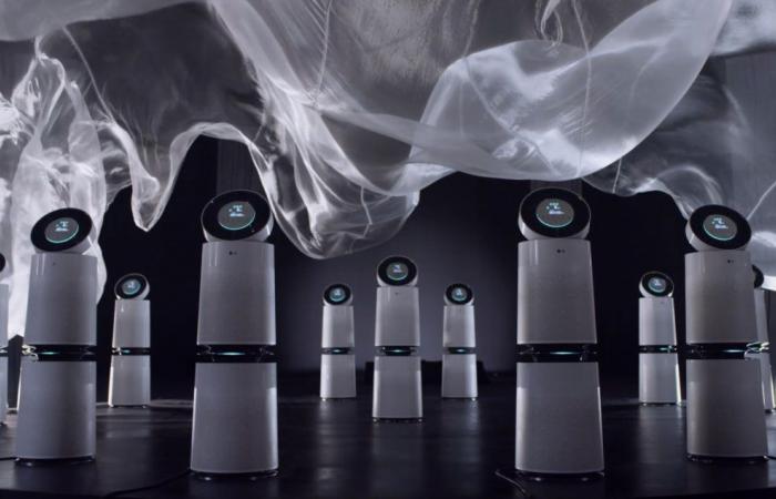 نحات تشكيل الهواء الشهير دانيال ورتزل يستخدم منقي الهواء إل جي بيوركير في إبداعات جديدة
