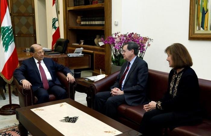 عون ابلغ ساترفيلد موقف لبنان من الاعتداءات الاسرائيلية على حدوده ومياهه
