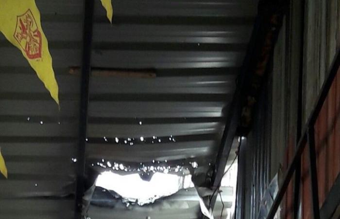 بالصورة.. انفجار قنبلة في سوق الخضار في صيدا