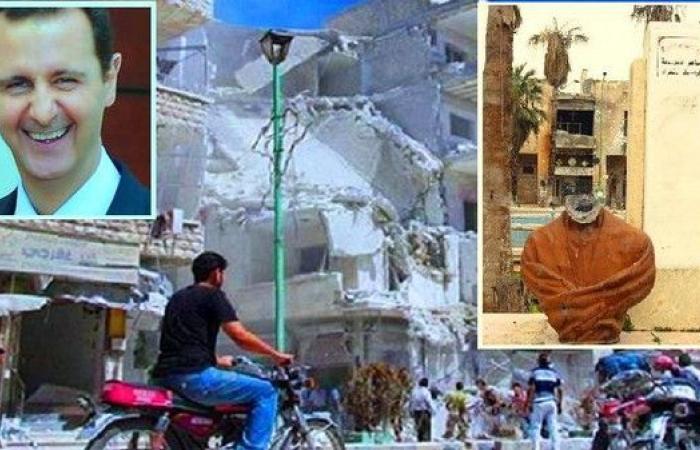 الأسد دمر مدينة أبي العلاء المعري والمتطرفون قطعوا رأسه