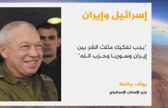 """إسرائيل تتوعد """"مثلث الشر"""" وترسم خطوطا حمرا"""
