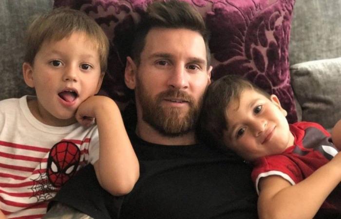 بالصور: صور جديدة لميسي مع أطفاله