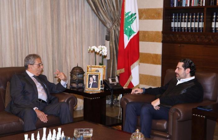الحريري يبحث التطورات مع عمرو موسى