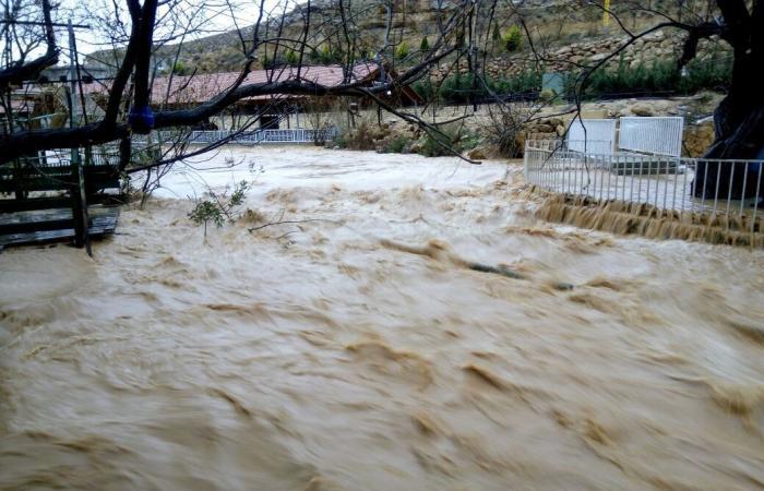 بسبب الأمطار الغزيرة.. مياه نهر العاصي تغمر المقاهي المحيطة به