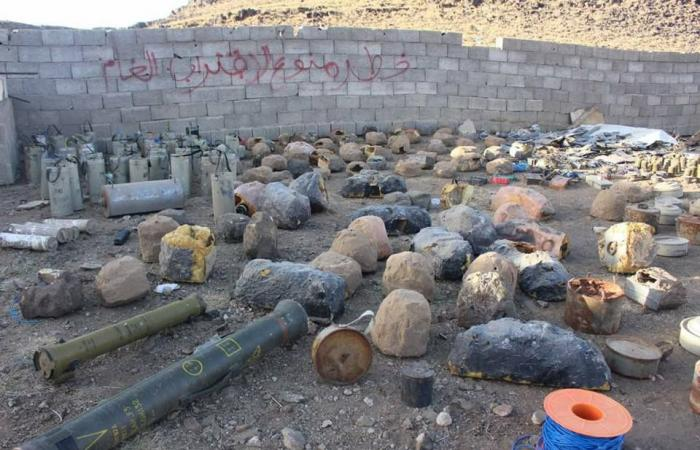 بالصور.. انتزاع 3 آلاف لغم زرعها الحوثيون في صعدة