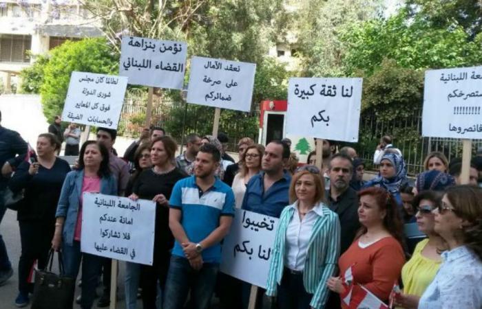 """متعاقدو """"اللبنانية"""": قررنا إلغاء التحرك"""