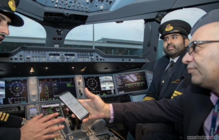 """بالفيديو.. أحدث طائرة """"إيرباص"""" تحطّ في هذه الدّولة العربية!"""