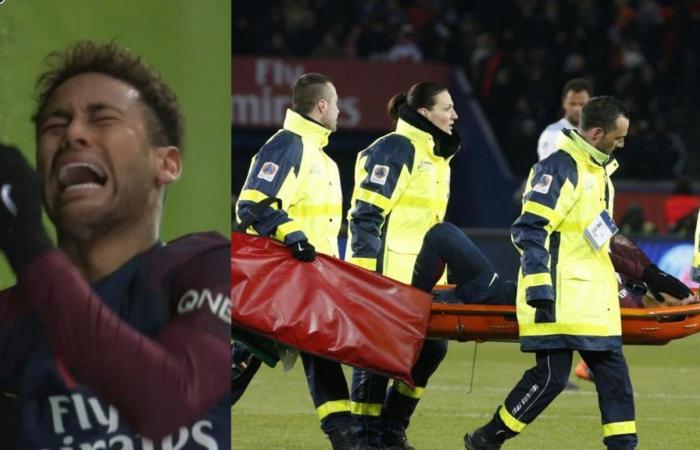 بالصور: نيمار يخرج باكياً بإصابة خطيرة.. ومشاركته أمام الريال مهدّدة!
