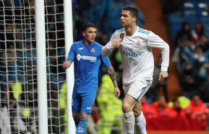رونالدو يعيد الاتزان إلى ريال مدريد بهدفين في مرمى خيتافي