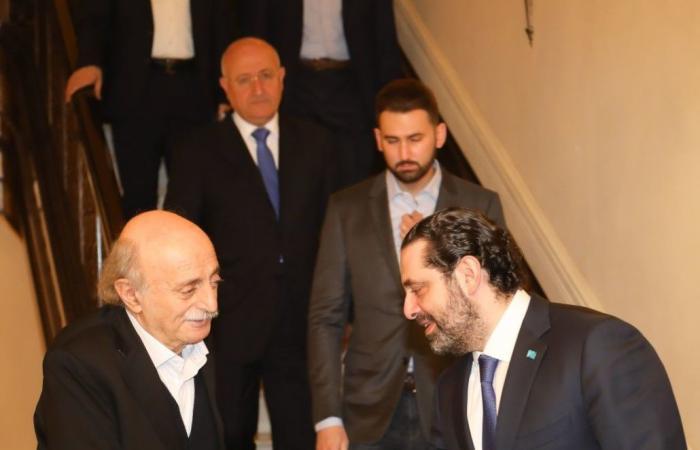 الحريري بعد لقائه جنبلاط: نسير معه في الإنتخابات حتّى النهاية