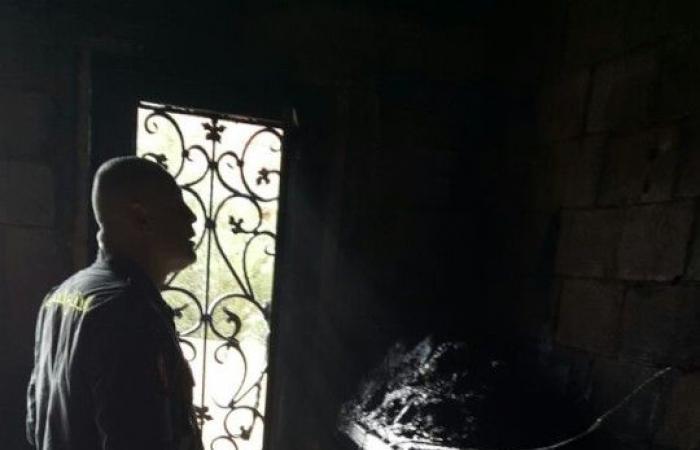 بالصور.. حريق هائل داخل منزل في البقاع