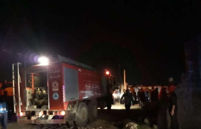 وفاة طفل جراء حريق في مخيم للنازحين