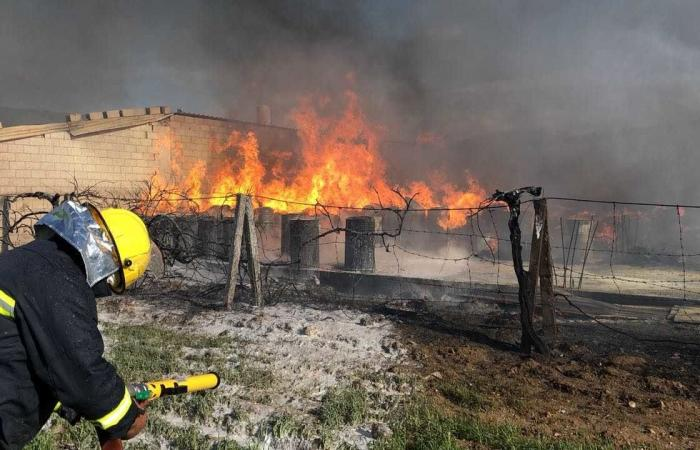 إخماد حريق داخل معمل ألومينيوم في تمنين التحتا البقاعية