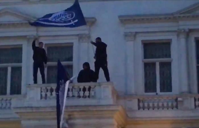 اقتحام سفارة إيران في لندن
