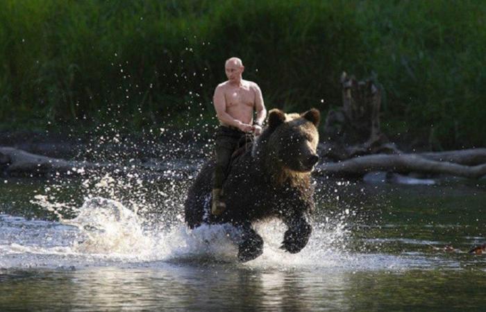 هكذا يسترخي بوتين