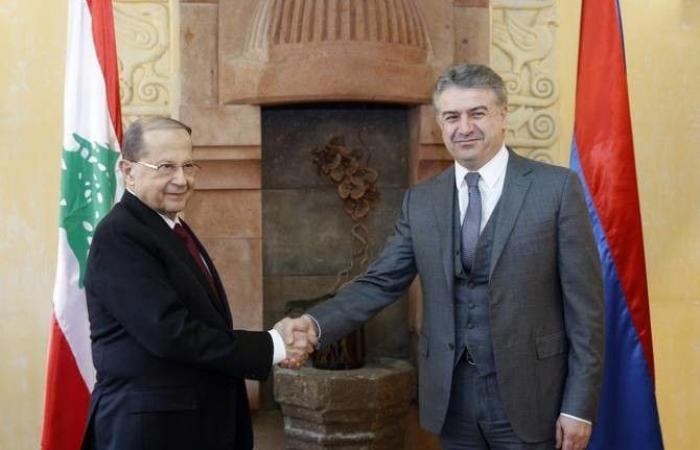 بعد لقائه عون.. رئيس وزراء أرمينيا وصل الى السراي