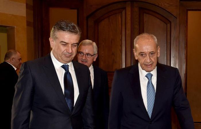 بري عرض ورئيس وزراء ارمينيا العلاقات الثنائية