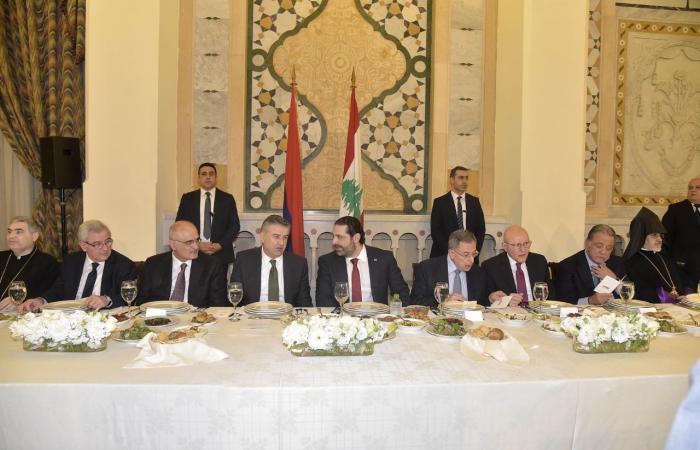 حفل عشاء في السراي على شرف الضيف الأرميني