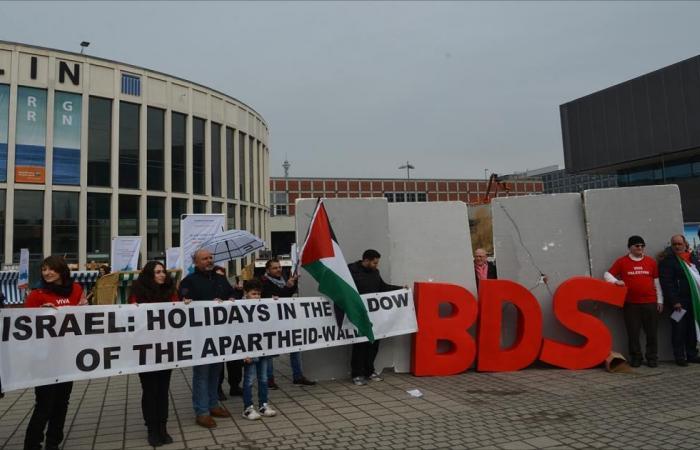احتجاجات أمام بورصة برلين السياحية ضد إسرائيل