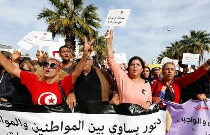 تظاهرة في تونس للمطالبة بالمساواة في الميراث