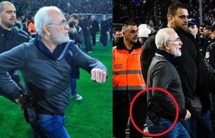 رئيس نادٍ يقتحم الملعب بسلاحه ويهدّد الحكّام!