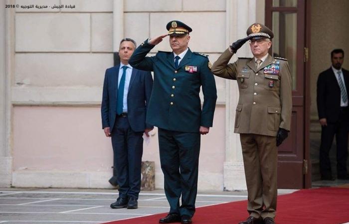 لقاءات جانبية بين قائد الجيش ورئيس أركان الدفاع الإيطالي