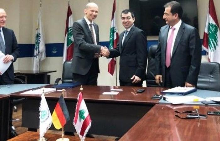 توقيع هبة بقيمة 38 مليون أورو مقدمة من ألمانيا لمصلحة مياه بيروت وجبل لبنان